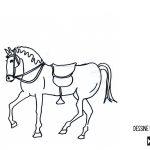 Dessin équitation