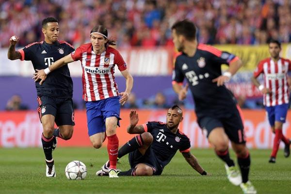 le Bayern de Munich l'Atlético de Madrid