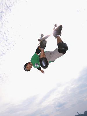 skateboard rampe