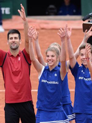 ramasseurs de balles de Roland Garros