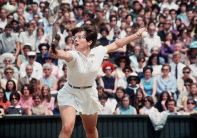 TENNIS - WIMBLEDON - FEMININ Billie Jean King in action at Wimbledon  July 1968  *** Local Caption ***