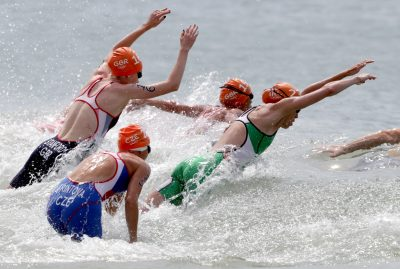 2016 - TRIATHLON - JO 2016 Rio 2016 Olympic Games Day 15, Rio de Janeiro, Brazil 20/8/2016 Women's Triathlon Ireland's Aileen Reid at the start of the race Mandatory Credit ©INPHO/Morgan Treacy