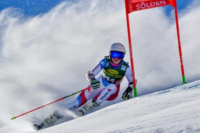 SKI ALPIN - COUPE DU MONDE - 2016 22.10.2016, Rettenbachferner, Soelden, AUT, FIS Weltcup Ski Alpin, Soelden, Riesenslalom, Damen, 1. Durchgang, im Bild Aline Danioth (SUI) // Aline Danioth of Switzerland in action during 1st run of ladies Giant Slalom of the FIS Ski Alpine Worldcup opening at the Rettenbachferner in Soelden, Austria on 2016/10/22. EXPA Pictures © 2016, PhotoCredit: EXPA/ Nisse Schmid *****ATTENTION - OUT of SWE***** *** Local Caption ***   FRANCE ONLY