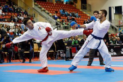 KARATE - CHPT MONDE - 2016 combat équipe masculin da costa (steven) (fra) ceinture rouge