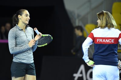 TENNIS - FED CUP - 2016 garcia (caroline) mauresmo (amelie) avant France/Republique Tcheque