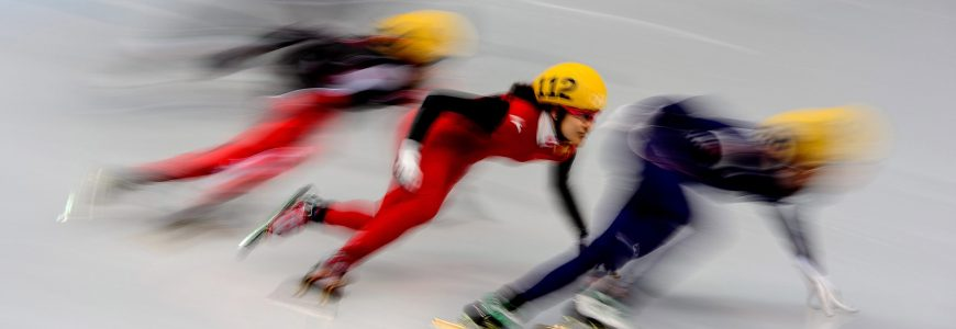 JEUX OLYMPIQUES D'HIVER - PATINAGE DE VITESSE - 2014 Feature Olympische Winterspiele 2014 in Sotschi, Short Track, Damen *** Local Caption ***