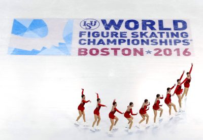 PATINAGE ARTISTIQUE - CHPT DU MONDE ISU - 2016 Apr 2, 2016; Boston, MA, USA; (Editor's note, in camera multiple exposure) Netherland's Niki Wories performs during the ladies free skate at the ISU World Figure Skating Championships at TD Garden. Mandatory Credit: Winslow Townson-USA TODAY Sports
