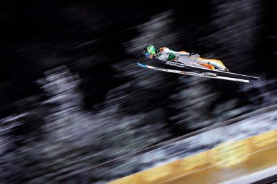 COMBINE NORDIQUE - COUPE DU MONDE - 2016 24.11.2016, Nordic Arena, Ruka, FIN, FIS Weltcup Ski Sprung, Nordic Opening, Kuusamo, Herren, Qualifikation, im Bild Domen Prevc (SLO) // Domen Prevc of Slovenia during Qualification for the Mens FIS Skijumping World Cup of the Nordic Opening at the Nordic Arena in Ruka, Finland on 2016/11/24. EXPA Pictures © 2016, PhotoCredit: EXPA/ JFK *** Local Caption ***