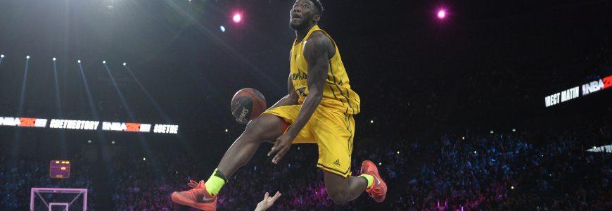 BASKET - ALL STAR GAME LNB - 2015 ouattara (billy yakuba) *** Local Caption ***   concours de dunk  vainqueur