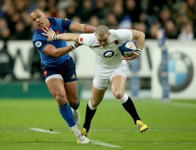 RUGBY - TOURNOI DES 6 NATIONS - 2016 RBS 6 Nations Championship Round 5, Stade de France, Paris, France 19/3/2016 France vs England France's Gael Fickou with Mike Brown of England Mandatory Credit ©INPHO/Dan Sheridan