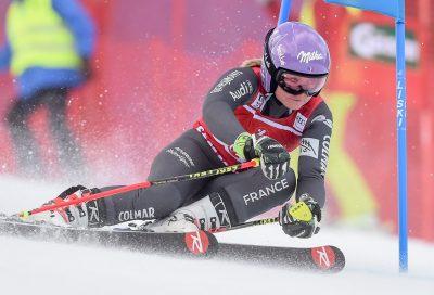 SKI ALPIN - COUPE DU MONDE - 2016 27.12.2016, Panoramapiste, Semmering, AUT, FIS Weltcup Ski Alpin, Semmering, Riesenslalom, Damen, 1. Lauf, im Bild Tessa Worley (FRA) // Tessa Worley of France in action during 1st run of ladie's Giant Slalom of FIS ski alpine world cup at the Panoramapiste in Semmering, Austria on 2016/12/27. EXPA Pictures © 2016, PhotoCredit: EXPA/ Erich Spiess