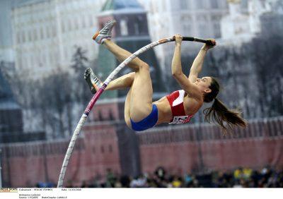 Championnats du Monde en Salle d'Athlétisme 2006. Perche Femmes. Le concours est remporté par la Russe Isinbaeva, la française Vanessa Boslak se classe 5ème. isinbayeva (yelena)