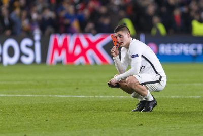 FOOT - LIGUE DES CHAMPIONS - 2017 SPAIN - Mar, 8th: Marco Verratti disappointed by defeat during the match between FC Barcelona - Paris Saint Germain, for the round of 16 of the Champions League, played at Camp Nou Stadium on 8th March 2016 in Barcelona, Spain. (Credit: Mikel Trigueros / Urbanandsport / Cordon Press)
