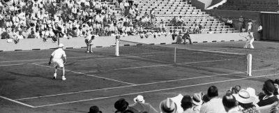 TENNIS - 1937 austin (bunny) henckel (meteh) austin (henry william) fonds n/b   sport