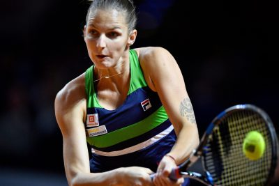 TENNIS - TOURNOI DE STUTTGART - WTA - 2017 28.04.2017, Porsche Arena, Stuttgart, GER, WTA Tour, Stuttgart Porsche Grand Prix, im Bild Karolina Pliskova (CZE) // during the Stuttgart Porsche Grand Prix Tournamen of the WTA Tour at the Porsche Arena in Stuttgart, Germany on 2017/04/28. EXPA Pictures © 2017, PhotoCredit: EXPA/ Eibner-Pressefoto/ Weber *****ATTENTION - OUT of GER***** *** Local Caption ***