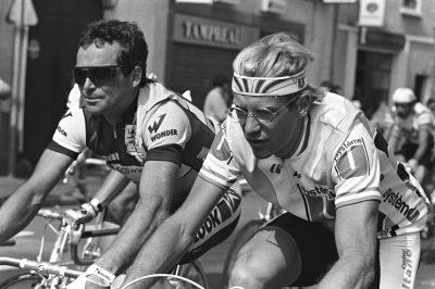 CYCLISME - TOUR DE FRANCE 1986 - 1986 hinault (bernard) fignon (laurent) *** Local Caption ***   fonds n/b