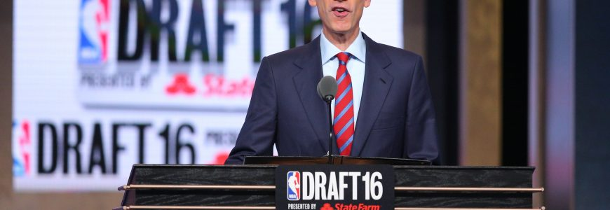 NBA - BASKET - 2016 Jun 23, 2016; New York, NY, USA; NBA commissioner Adam Silver speaks before the first round of the 2016 NBA Draft at Barclays Center. Mandatory Credit: Brad Penner-USA TODAY Sports *** Local Caption ***