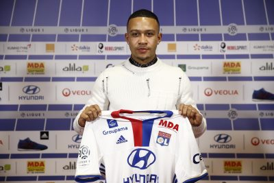FOOT - L1 - TRANSFERT - 2017 Decines, le 20/01/17 groupama ol training center Presentation memphis depay depay (memphis)