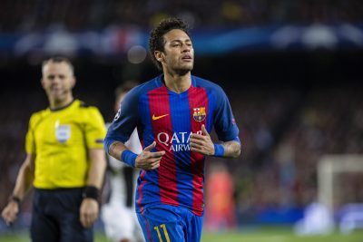 FOOT - LIGUE DES CHAMPIONS - 2017 SPAIN - 19th of April: Neymar jr of FC Barcelona during the UEFA Champions League Quarter Final second leg match between FC Barcelona and Juventus FC at Camp Nou Stadium on April 19, 2017 in Barcelona, Spain.. (Credit: Mikel Trigueros / Urbanandsport / Cordon Press)