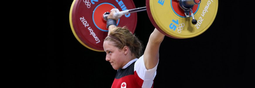 HALTEROPHILIE - JO 2012 1st August 2012 - London 2012 Olympic Games - Weightlifting - Women's 69kg - Marie-Eve Beauchemin-Nadeau (CAN) in the Snatch - Photo: Simon Stacpoole / Offside.