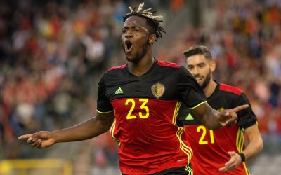 FOOT - MATCH AMICAL - 2017 20170605 - Brussels , Belgium / International friendly game : Belgium v Czech Republic / Michy BATSHUAYI scores  Picture by Frank Abbeloos / Isosport