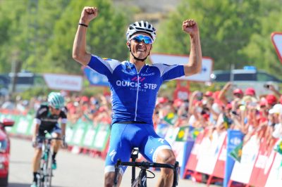 CYCLISME - TOUR D'ESPAGNE - 2017 26 August 2017 72nd Vuelta a Espana Stage 08 : Hellin - Xorret de Cati 1st : ALAPHILIPPE Julian (FRA) Quickstep Floors Photo : Yuzuru SUNADA